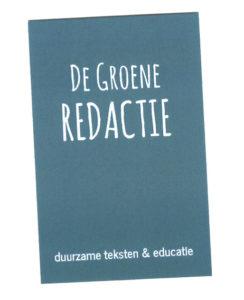 De Groene Redactie Annet Achterkamp Annet Talsma duurzame teksten en educatie