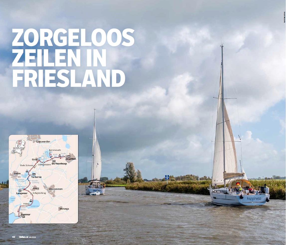 Zorgeloos Zeilen in Friesland artikel magazine Annet Achterkamp Talsma